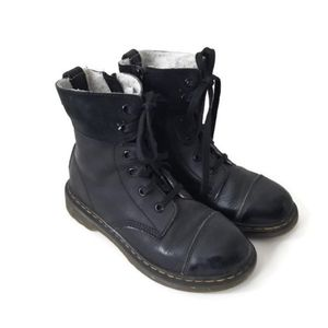 Dr. Martens Boots Suede Leather black sz 2